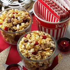 Movie Night Munchie Mix Recipe from Taste of Home -- shared by Dawn Moore of Warren, Pennsylvania -- http://pinterest.com/taste_of_home/