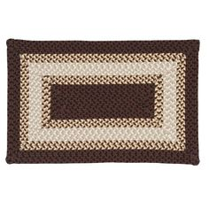 Cayman Isle Braided Reversible Indoor Outdoor Rug, Brown