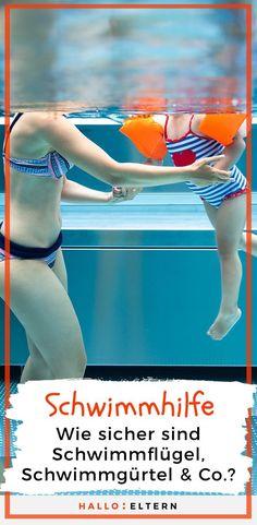 Beim Schwimmen lernen oder beim Planschen im Wasser greifen viele Eltern auf Schwimmhilfen zurück. Aber sind Schwimmflügel, Schwimmring und Co. wirklich sinnvoll? Und worauf sollten Eltern beim Kauf achten?#schwimmen #schwimmhilfe #schwimmflügel Baby Kind, Babys, Sports, Swimming Strokes, Traveling With Baby, Mom And Dad, Life Tips, School Kids, Parenting