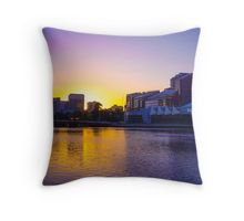 Backlit Along the Yarra - Melbourne, Victoria Throw Pillow