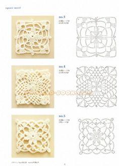 Solo esquemas y diseños de crochet: motivos triangulares