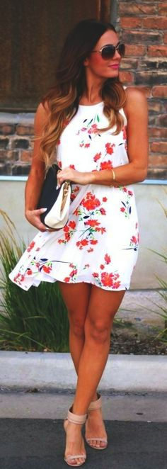 Floral Printed Dresses are the best you can get for this summer to flaunt your fashion sense   CUTE SUMMER OUTFITS   42 Cute Summer Outfits to Copy ASAP   Fenzyme.com