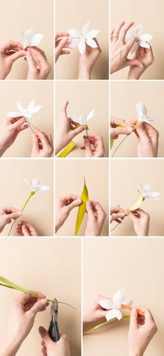 How to make a paper flower naricissus - The House That Lars Built