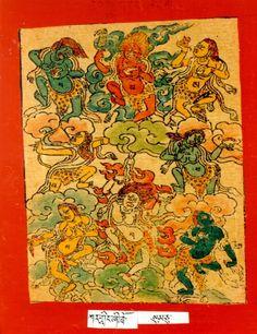 Himalayan Art: Item No. Mini Paintings, Buddhist Art, Central Asia, Himalayan, Deities, Art School, Buddhism, Karma, Inspiration