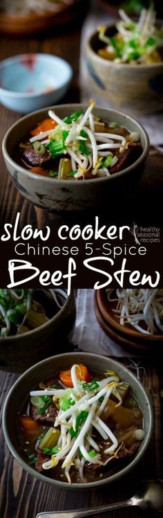 Healthy Slow Cooker Chinese 5-Spice Beef Stew recipe