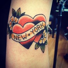 I got this done at The End is Near in Park Slope, Brooklyn by Becca Genne Bacon.  I've always wanted a New York tattoo but because I had lived in both Manhattan and Brooklyn I didnt really know what to get to symbolize my love for NYC. I saw this on a flash sheet Becca had done and fell in love right away. It is perfect!