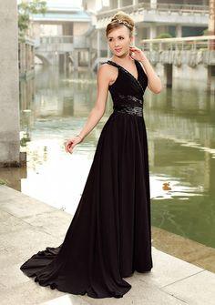the perfect black evening dress