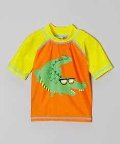 Look at this #zulilyfind! Orange & Yellow Gator Rashguard - Infant & Toddler by Candlesticks #zulilyfinds