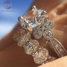 3.54ct Round Brilliant Cut Diamond Engagement Ring SKU: 3466-1