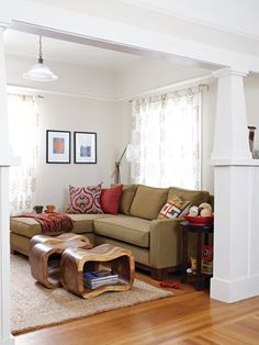 Use certified, organically grown fabrics for everything from curtains to couch cushions to make your pad more environmentally responsible.