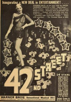 Great depression themes in 42nd street