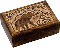 Carved Elephant - Storage Box