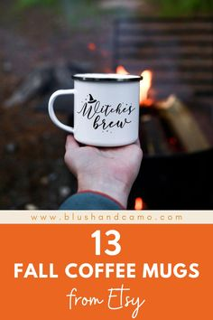 What is better than curling up with a warm cup of coffee on a crisp fall morning? I just love fall but I also love staying on a budget! So, I've rounded up the cutest, affordable fall mugs you can buy on Etsy! Just add the pumpkin spice! #whattobuyonetsy #pumpkinspice #cozymugs #fallcoffeemugs