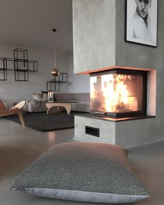Most up-to-date Pictures Gas Fireplace wall Style The next wind storm out of doors may be frightful, your open fireplace can be so beautiful! You may well be lo. House Design, Home Living Room, Interior, Fireplace Console, Fireplace Design, House Interior, Indoor Fireplace, Interior Design, Fireplace