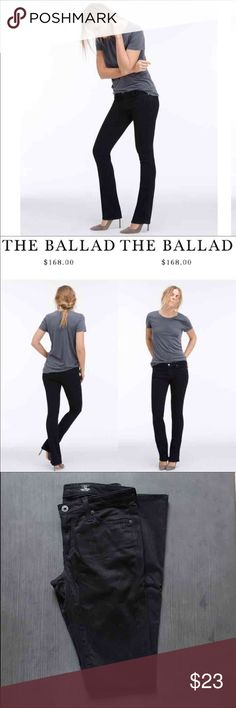 AG the Ballad slim boot black jeans. AG the Ballad slim boot black jeans.  Size 25R (1/2) Introducing the latest variations of the classic bootcut shape. This bootcut jeans for women are crafted from denim that streamlines and elongates the figure for a flawless silhouette. Choose from a range of fabrics, rises, and colors—this pair is perfect for any occasion.  For a modern take on classic, it fits slim through the knee and breaks into a gentle flare at the hem. AG Adriano Goldschmied Jeans…