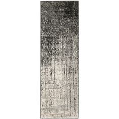 Awesome runner Deco Inspired Black/ Grey Rug (2'3 x 7')