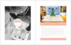 December Daily 2014 Day 3 | Child's Card making | 8x10 Blurb photo book pocket page layout | yolandamadethis.com