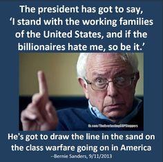 Bernie calls out Barack - Preach it, Bernie!!