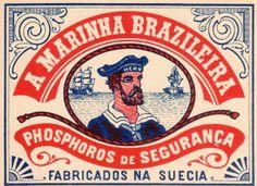 A Marinha Brazileira — matchbox art Pub Vintage, Vintage Nautical, Vintage Paper, Nautical Theme, Nautical Design, Vintage Graphic Design, Retro Design, Vintage Designs, Design Art