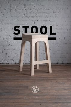 "ideas-about-nothing: "" Wooden stool """