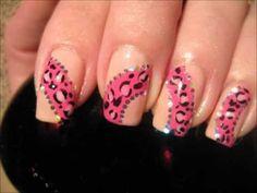 Nailart: Sweet pink princess leopard