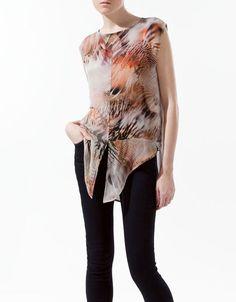 COMBINED PRINTED T-SHIRT - T-shirts - Woman - ZARA Romania