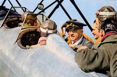 Instructor, in rear seat, and student, in forward seat, at one of Fighter Schools of Italian Regia Aeronautica in time immediately near or soon after the entry of Italy in the war. The aircraft is a Fiat CR.30B, two-seat version of fighter CR.30, the immediate precursor of CR.32.