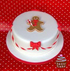jelly cake - christmas - christmas cake - gingerbread man cake