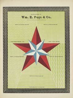Specimens of chromatic wood type, borders 1874 - Columbia U (Chromatic Double Star + background tints)