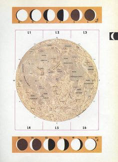 MOON phases moon map vintage moon print by VintageAndNostalgia