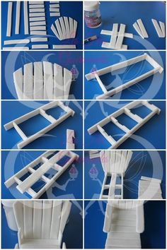 STEP BY STEP beach chairs Fondant Toppers, Fondant Cakes, Cupcake Cakes, Cupcakes, Cake Topper Tutorial, Fondant Tutorial, Cake Decorating Techniques, Cake Decorating Tutorials, Decors Pate A Sucre