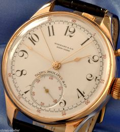 PATEK PHILIPPE & CO GENEVA SOLID 14K SPLIT SECOND RATTRAPANTE CHRONOGRAPH - 1891