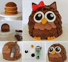 Best 9 Muñeca a crochet – SkillOfKing.Com Creative Cakes, Creative Food, Cute Cakes, Yummy Cakes, Cake Pops, Whipped Buttercream, Ladybug Cakes, Owl Cupcakes, Cake Platter