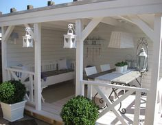 Do you want to have a design gazebo in your garden? We offer perfect gazebo decors for you. the most beautiful arbor of your home garden, pool, you can make your life more beautiful. these gazebos are made of wood and are very healthy. Outdoor Rooms, Outdoor Living, Outdoor Decor, Outdoor Patios, Outdoor Sheds, Outdoor Kitchens, Outdoor Seating, Gazebo Decorations, Gazebos