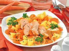 Möhren-Gemüse mit Hähnchenfilet - Diätrezepte mit Geflügel