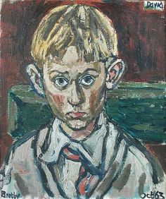 """John Bratby, RA (British, Portrait of the Artist's Son, David Bratby, dated """"Oct. John Bratby, Value In Art, Royal Academy Of Arts, A Level Art, Male Figure, Abstract Shapes, Paintings For Sale, Figure Painting, Art History"""