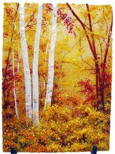 The Shimmering Autumn Aspens Forest Landscape