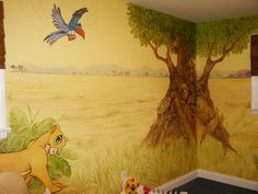 Find This Pin And More On Home Decor Love The Idea Of A Lion King Play Room
