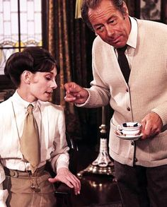Eliza Doolittle and Professor Higgins from 'My Fair Lady' Audrey Hepburn Movies, Audrey Hepburn Born, Bernard Shaw, My Fair Lady, Golden Age Of Hollywood, Vintage Hollywood, Zorba The Greek, Lawrence Of Arabia, Eliza Doolittle