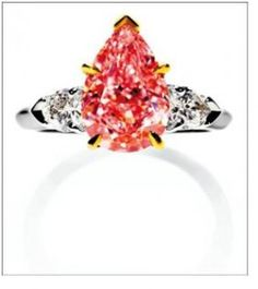 harry winston jewelry | Harry Winston Pink diamond ring means, close to 18K gold pink diamond ...