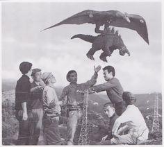 Behind the scenes on Ghidorah the Three Headed Monster