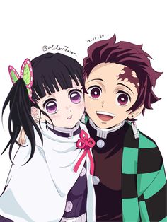Read Kimetsu No Yaiba / Demon slayer full Manga chapters in English online! Manga Anime, Art Anime, Anime Couples Manga, Anime Kunst, Fanarts Anime, Cute Anime Couples, Anime Demon, Otaku Anime, Anime Art Girl