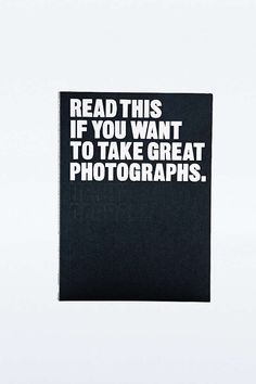 Livre « Read This If You Want to Take Great Photographs » - Urban Outfitters