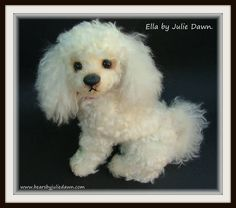Handmade by me. Artist collectable dog. www.bearsbyjuliedawn.com