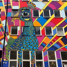 Street art in Oslo's Grunerlokka district