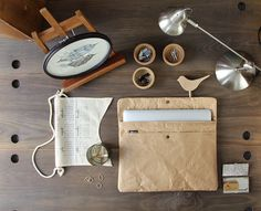Natural Paper Laptop Sleeve (made with real paper) by www.thewrendesign.com