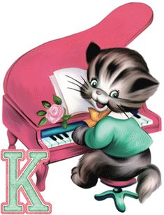 alphabets chats - Page 6 Alphabet, Rollin Stones, The Beach Boys, Lettering, Humor, Piano, Fictional Characters, Decorated Letters, Cat Breeds