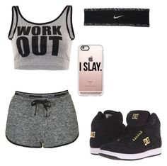 """""""WorkOut"""" by the-anime-nerd on Polyvore featuring Topshop, Casetify, NIKE and DC Shoes"""