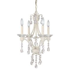 Photon 4 Light 22 In. Shabby Chic Incandescent Chandelier at Menards