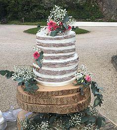 The Cake Lab Bakery, Ranelagh, Dublin, Ireland. Artisan Baking Studio.  Two tier semi naked cake with fresh flowers.